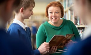 Gloucestershire head Julia Maunder and pupil