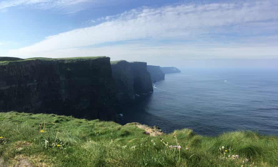 A tough climb up to the remarkable beauty of the Cliffs of Moher, County Clare.