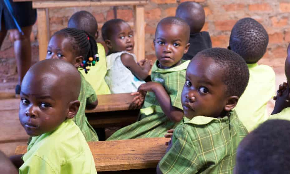 Pupils at a primary school run by Bridge International Academies in Mpigi, Uganda