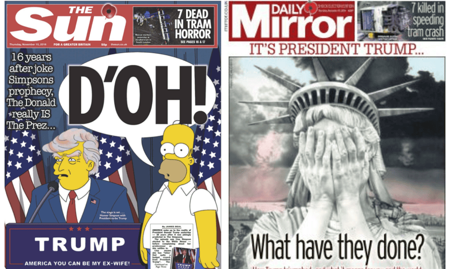 Front page reactions: The Sun and Daily Mirror.