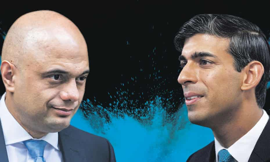 Sajid Javid, left, was Rishi Sunak's boss at the Treasury, but now the two are at loggerheads.