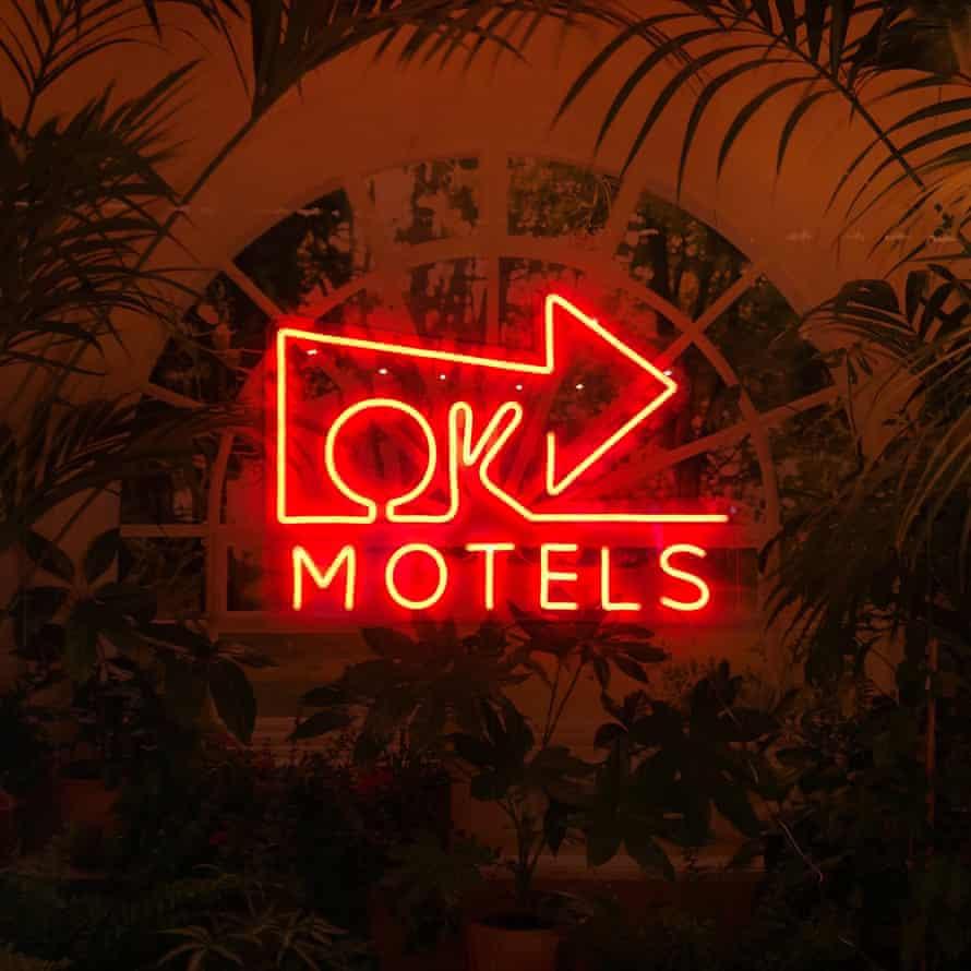 Ok Motels sign.