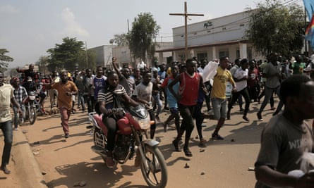 Several hundred people protest in Beni, eastern DRC, against the postponement of the general election