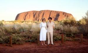Charles and Diana visiting Uluru in 1983