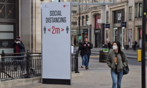 London's empty shopping streets during the second lockdown