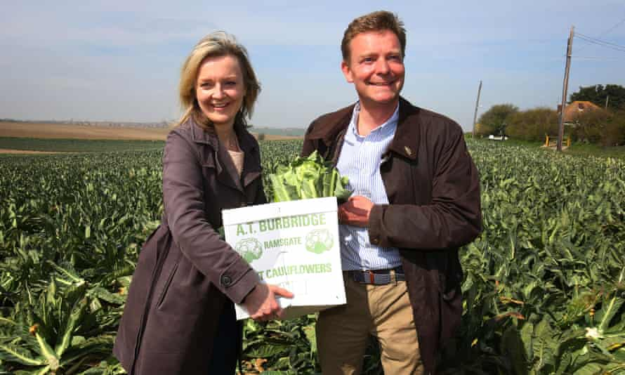 Liz Truss, pictured left, says EU membership means farmers can export products freely without trade barriers.