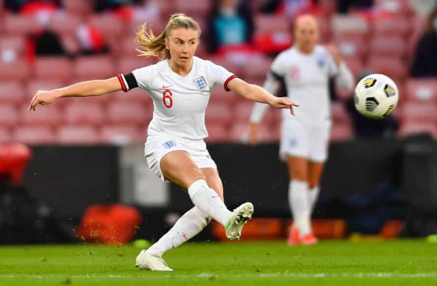 England's Leah Williamson in action during a 2-0 defeat against Canada.