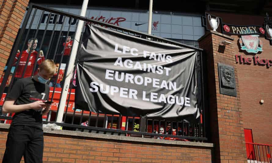 Impressive banner turnaround time on Merseyside.