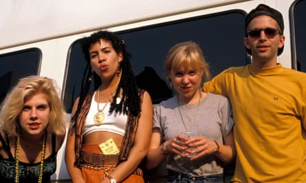 Fringe band … the Muses at Glastonbury in 1989.
