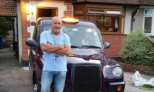 Ex-cab driver Kevin Ward was working as a coach driver carrying workers.