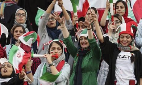 Thousands of Iranian women watch football match for first time