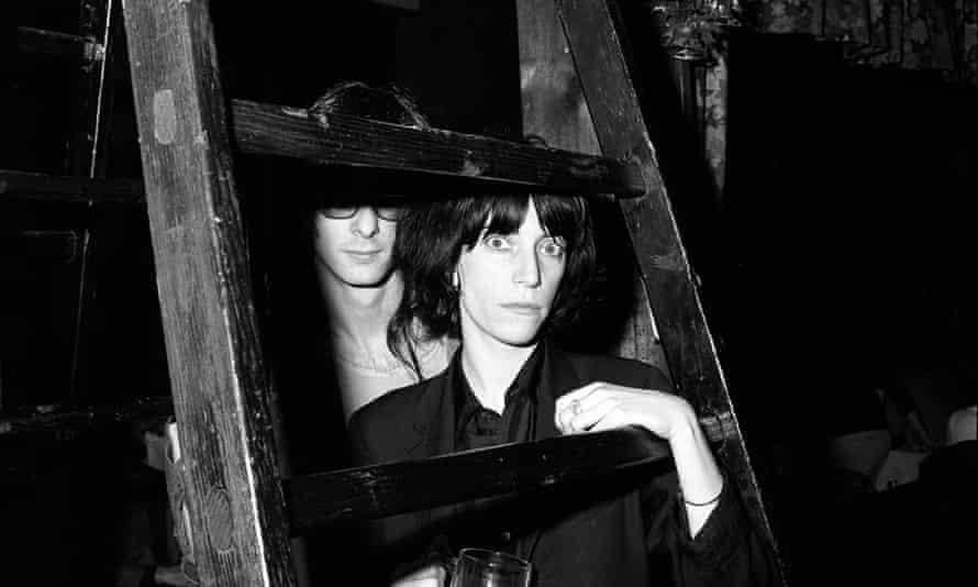 Patti Smith at CBGB's, New York, in 1975.