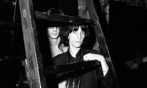 Patti Smith with Lenny Kaye at CBGBs club in New York City