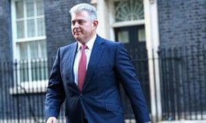 Brandon Lewis leaving No 10 as Northern Ireland secretary.