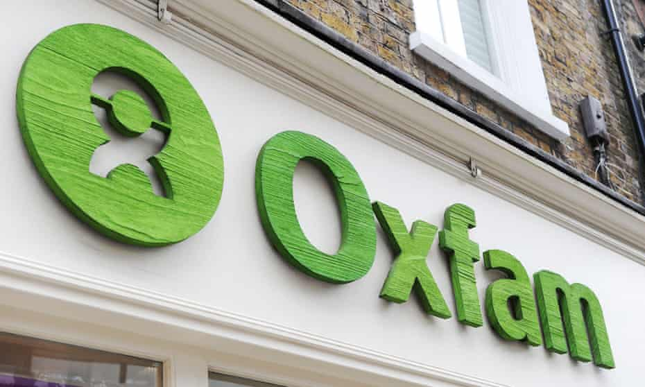 Oxfam sign on shop