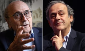 Sepp Blatter and Michel Platini, who were banned from football for six and four years in 2015.