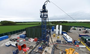 Cuadrilla fracking site at Preston New Road shale gas exploration site in Lancashire