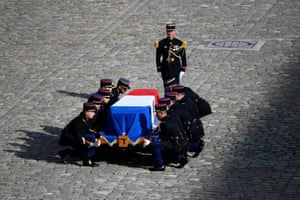 Jacques Chirac's coffin in Paris