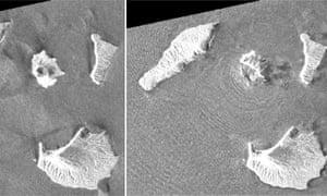 Anak Krakatau volcano satellite photo