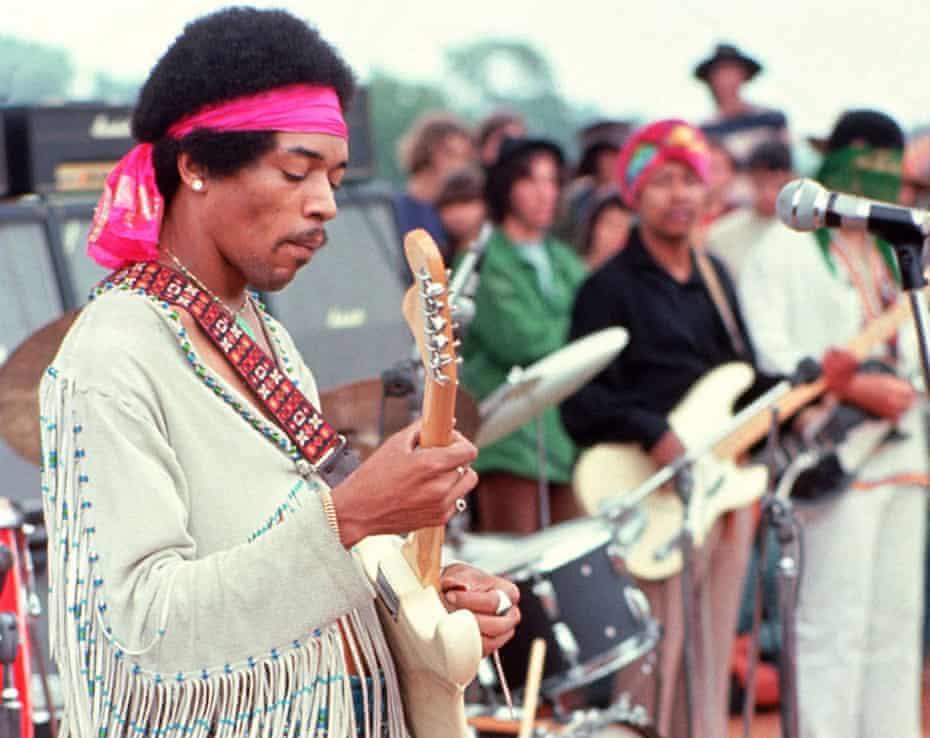 Blindingly great … Jimi Hendrix at Woodstock.