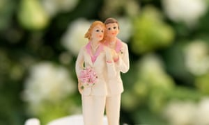 'Are marriage vows liberation or a life sentence?' … cake figurines at a wedding between two women.