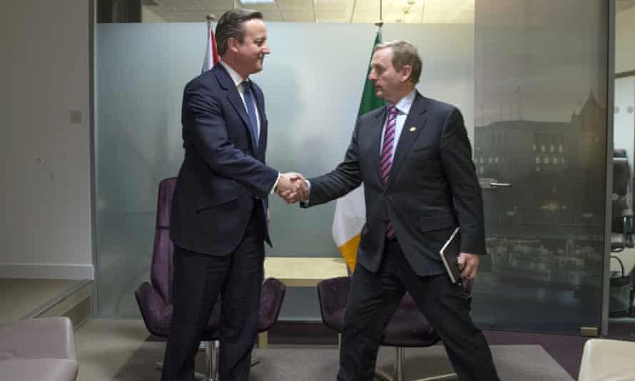 David Cameron and Enda Kenny, Irish PM, in Brussels