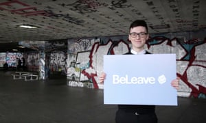 Darren Grimes, the leader of the BeLeave youth campaign, which worked alongside Vote Leave.