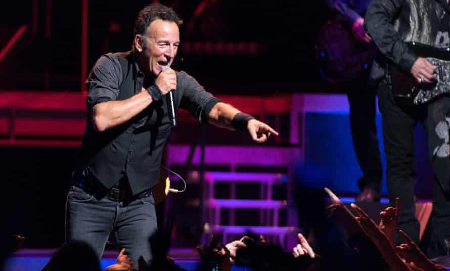 Bruce Springsteen on 19 January in Chicago, Illinois.