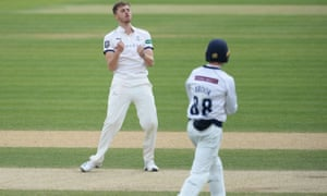 Ben Coad picked up three quick wickets against Hampshire.