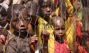 Burundian children take refuge in Nyarugusu camp, Tanzania, having fled the political violence with their families