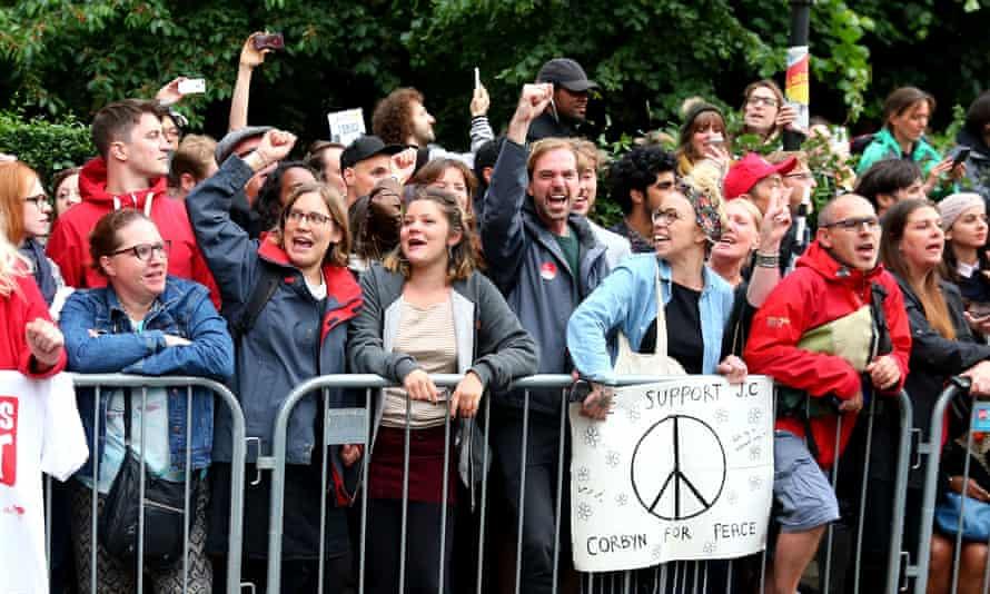 Jeremy Corbyn supporters in Islington