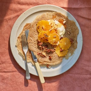 Anna Jones' browned butter and orange buckwheat crepes.