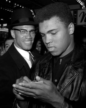 With Malcolm X in 1964, shortly after the world learned that Ali had joined the Nation of Islam.