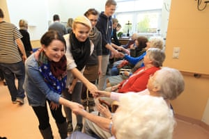 Flensburg, Germany, young people encounter residents of a nursing homeDTEWGE Flensburg, Germany, young people encounter residents of a nursing home