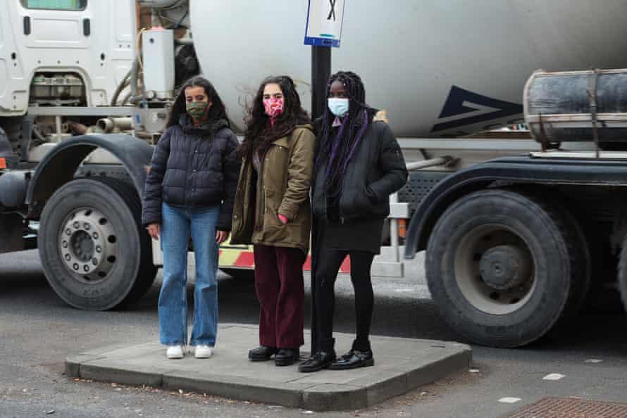Choked Up co-founders, from left, Nyeleti Brauer-Maxaeia, Anjali Raman-Middleton, Destiny Boka Batesa.