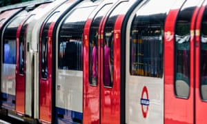Central Line train. Transport for London is likely to reduce Underground train services during the coronavirus outbreak.