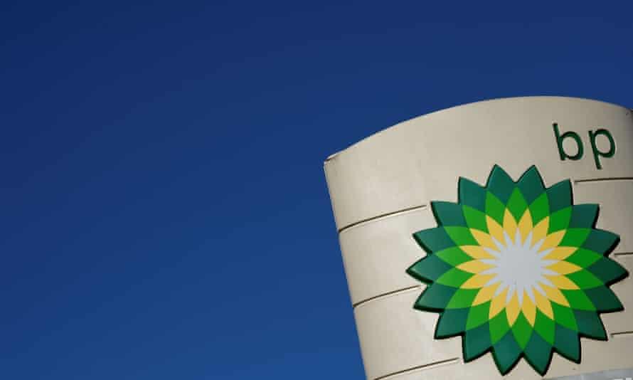 BP logo against blue sky