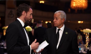 Lord Herman Ouseley with Gareth Southgate at the 2018 PFA Awards. Ouseley has never been paid for his work with Kick It Out.