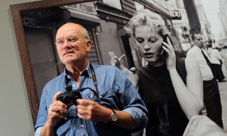 Peter Lindbergh at his exhibition Peter Lindbergh: On Street in Berlin, 2010.