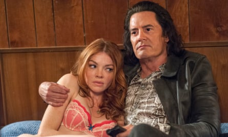 Nicole LaLiberté and Kyle MacLachlan in Twin Peaks: The Return.