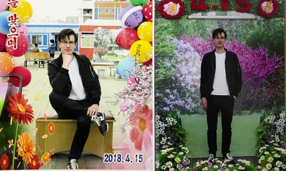 Alek Sigley during his studies in North Korea