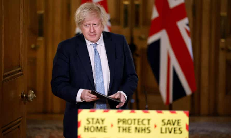 Boris Johnson at No 10 press conference