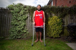Mose Masoe suffered a serious spinal injury in January but straight after the operation he vowed to recover and took his first steps in May.