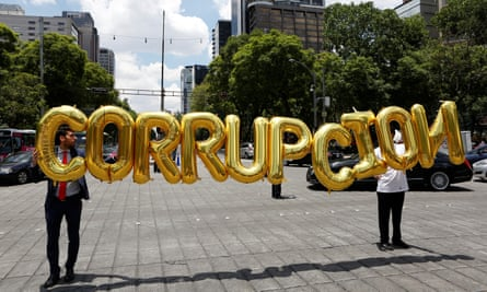 The word on the street in Mexico is corruption.