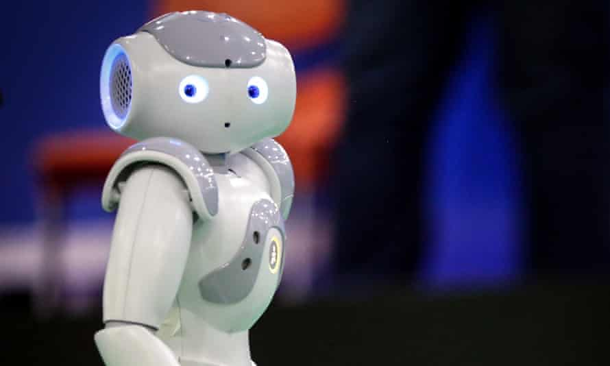 Humanoid robot NAO Next Gen by Aldebaran Robotics.