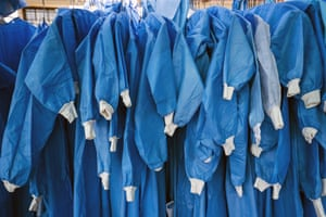 Pretoria, South Africa PPE hangs outside tents where Covid-19 patients are being treated.