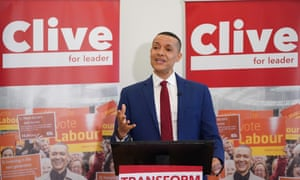 MP Clive Lewis gives speech as he makes his bid for Labour leadership.