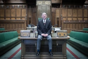 London, UK: Sir Lindsay Hoyle is seen in the chamber of the House of Commons