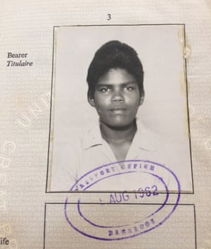 Passport picture of the late Reba Younge