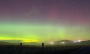 The northern lights over Shetland.